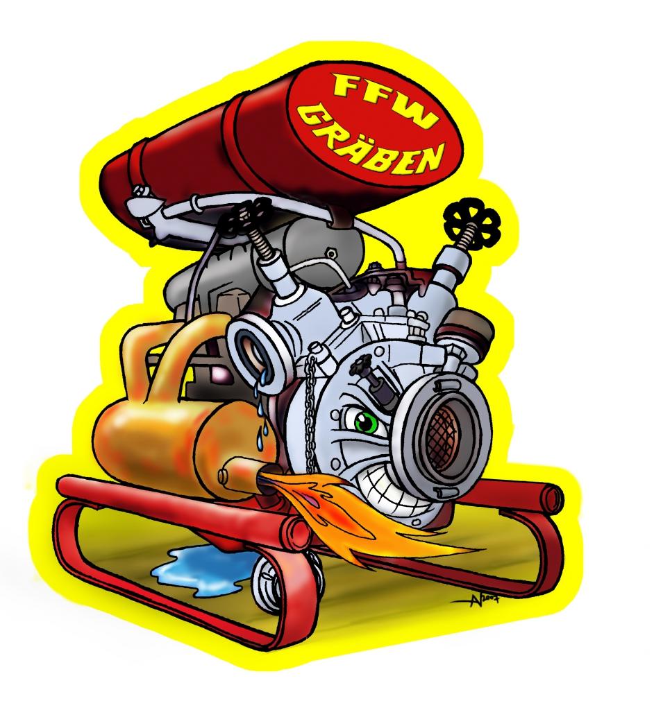PANsStudio-Illustration für die Freiwillige Feuerwehr Gräben